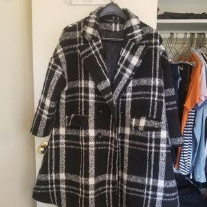 Jackets & Blazers - Plaid Peacoat